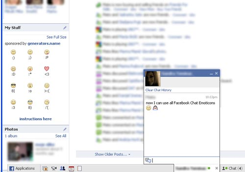 facebook emoticons 42. chat emoticons